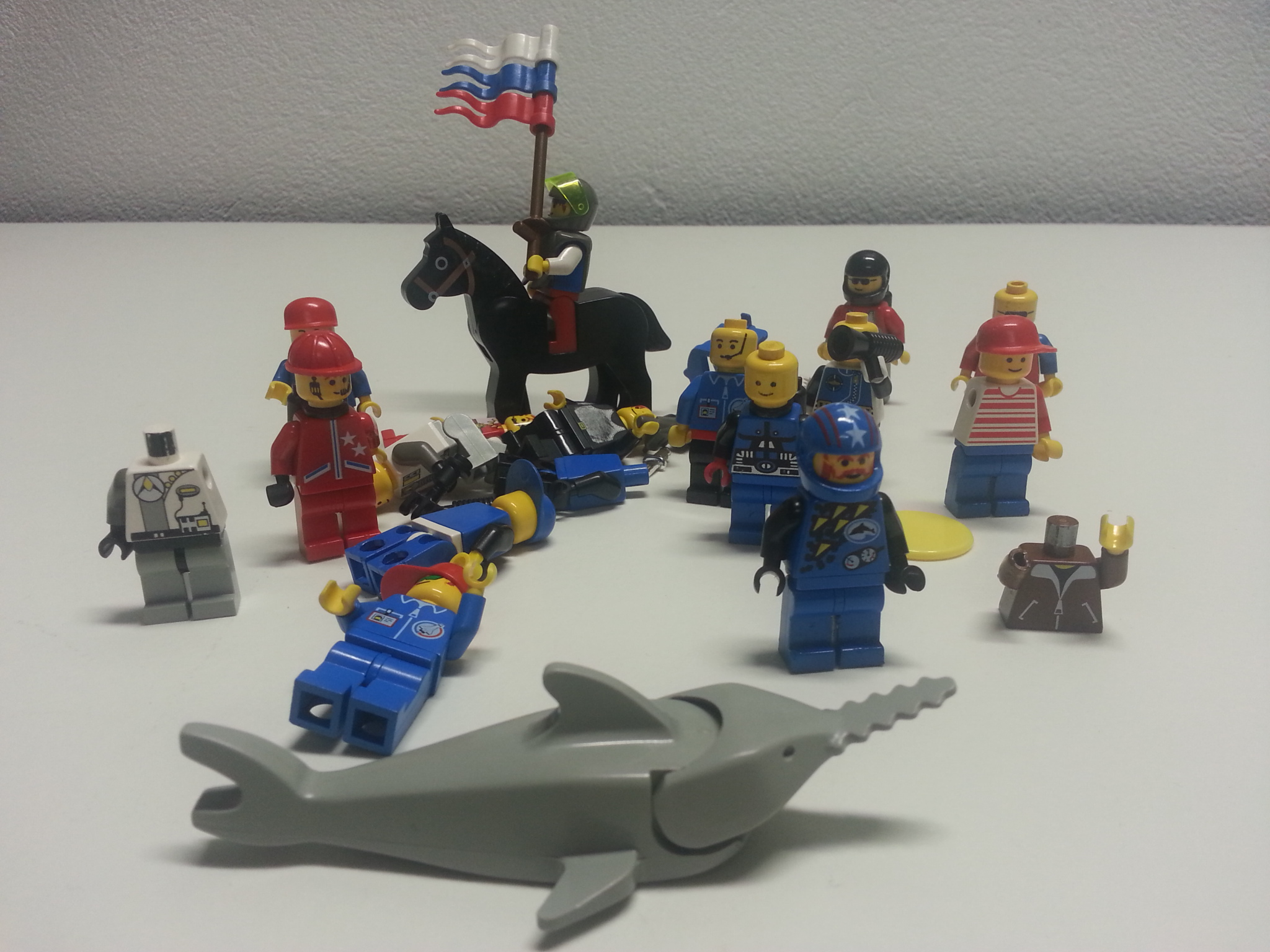 Lego people (and a shark)