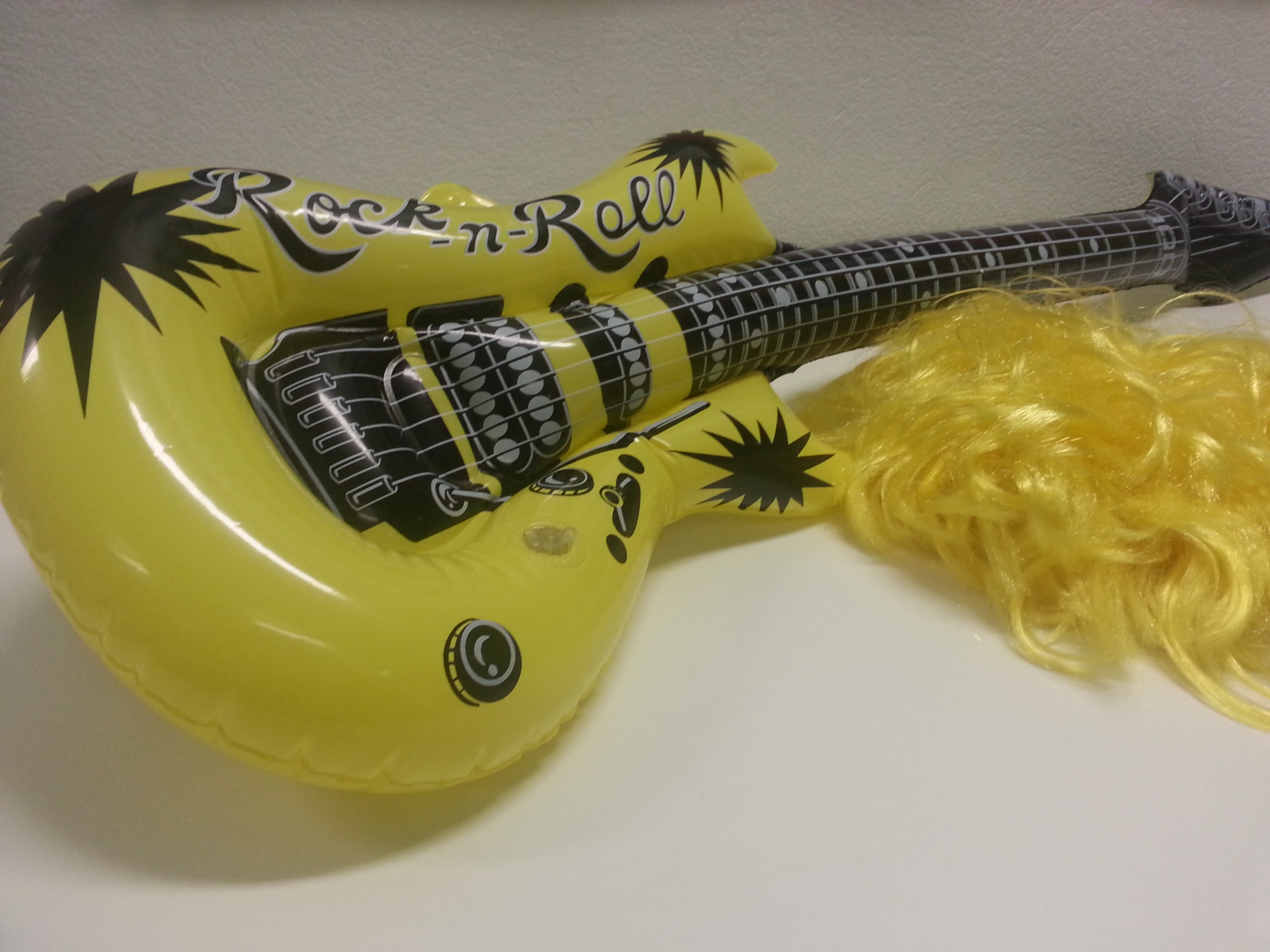 Guitar and wig