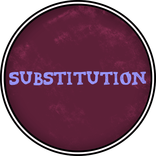 6 Substitution Class Badge