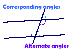 Corresponding and alternate angles