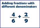 Fractions w. different denominators
